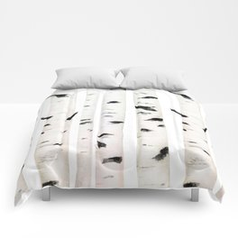 birch  watercolor Comforters