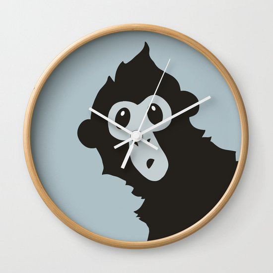 Spider Monkey - Peekaboo! Wall Clock