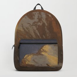 Albert Bierstadt - Spur of the Edge at Sunset, Grindelwald Backpack