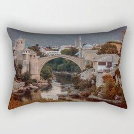 An Old bridge in Mostar Rectangular Pillow