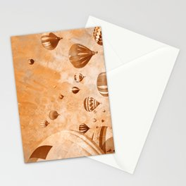 Vintage Acrylic Air Balloons Stationery Cards