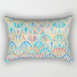 Vintage Twenties Art Deco Pastel Pattern Rectangular Pillow