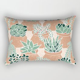 Succulent's Tiny Pots Rectangular Pillow