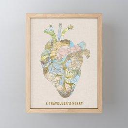 A Traveler's Heart Framed Mini Art Print