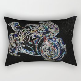 Neon Racer Rectangular Pillow