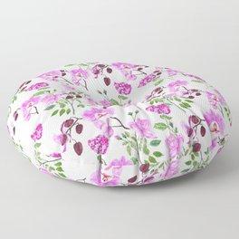 pinkish purple flowers pattern Floor Pillow
