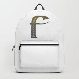 Celtic Knotwork Alphabet - Letter F Backpack