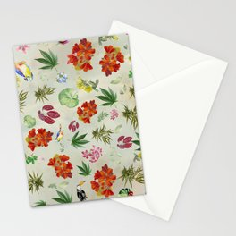 Tropical Birds in the Pot Stationery Cards