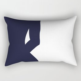 Nude silhouette figure - Nude blue 001 Rectangular Pillow