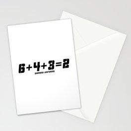 6+4+3=2 - Black Stationery Cards