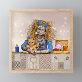Polly Patchwork's Sewing Company Framed Mini Art Print