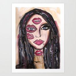 Lip Makeup Art Print