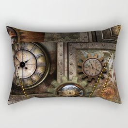 Steampunk, wonderful clockwork with gears Rectangular Pillow