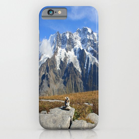 Trail Blazing the Alps iPhone & iPod Case