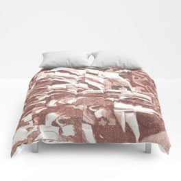 Fractured Flora Dusty Rose Comforters