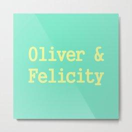 Oliver & Felicity Metal Print