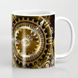 Steampunk Clock with Gears Coffee Mug