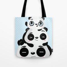 Panda family Tote Bag