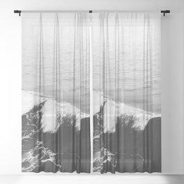 OCEAN WAVES Sheer Curtain