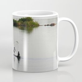 Fishermen Fishing on the Mekong River Coffee Mug