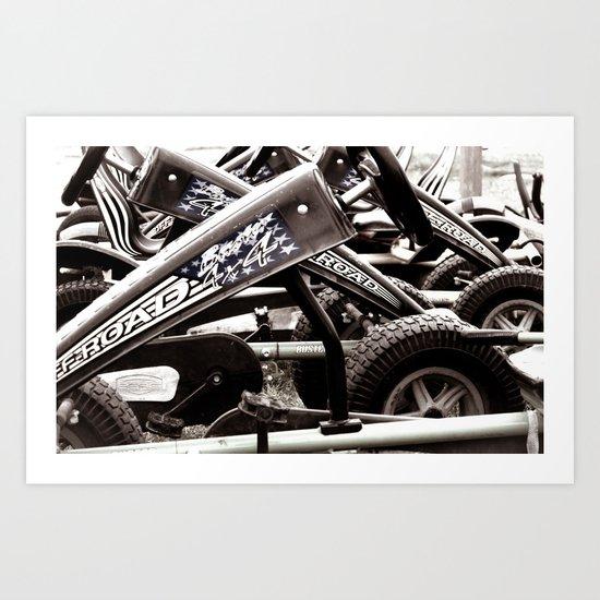 Pedal Cars Art Print