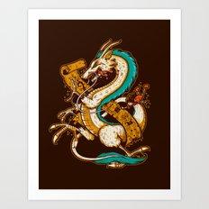 SPIRITED CREST Art Print