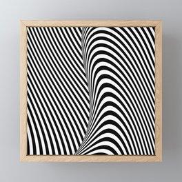 Black and White Pop Art Optical Illusion Lines Framed Mini Art Print