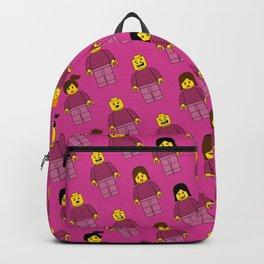Building Blocks People, Light Pink Brick Characters Backpack