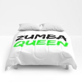 Zumba Queen (Green) Comforters