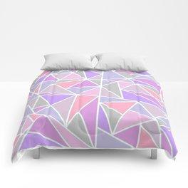 Pastel Shards Geometric Pattern Comforters