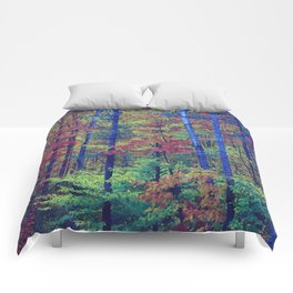 Forest - with exaggerated colors Comforters