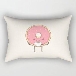 donut loves coffee Rectangular Pillow