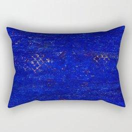 V11 Calm Blue Printed of Original Traditional Moroccan Carpet Rectangular Pillow