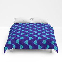Waves Pattern Blue Comforters