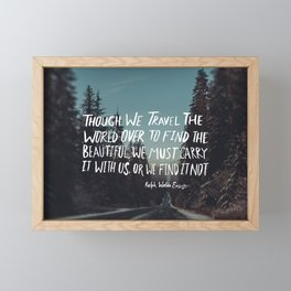 Road Trip Emerson Framed Mini Art Print