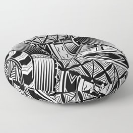 UrbanNesian Black and White Tatau Floor Pillow
