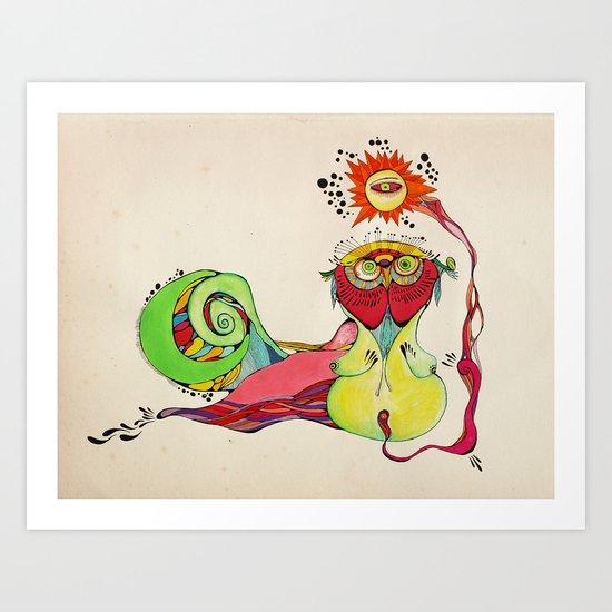 Buho Art Print