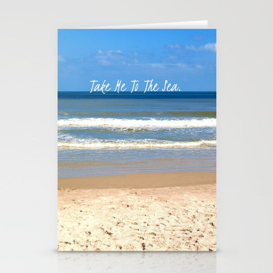 Take Me To The Sea Stationery Cards