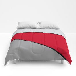 Diagonal Color Blocks in Red and Grays Comforters
