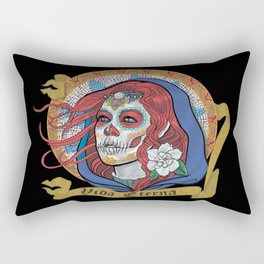 Red Catrina (Day of the Dead) Rectangular Pillow