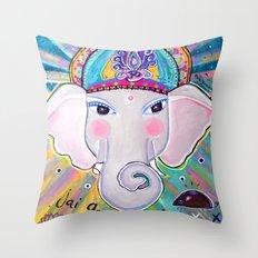Jai Ganesha  Throw Pillow
