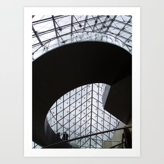 Louvre staircase Art Print