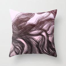 hair (1) Throw Pillow