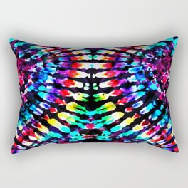 Tie Dye Hour Glass Rectangular Pillow