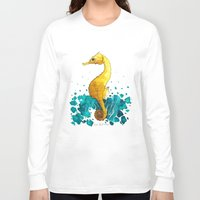 sea horse Long Sleeve T-shirts featuring Sea Horse by Lore Illustration