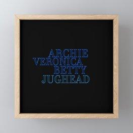 Riverdale Core Framed Mini Art Print