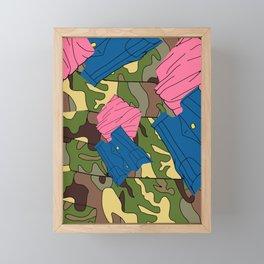 Army Girl Clothing Framed Mini Art Print