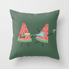 Water Fight Throw Pillow
