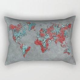 world map 84 grey Rectangular Pillow
