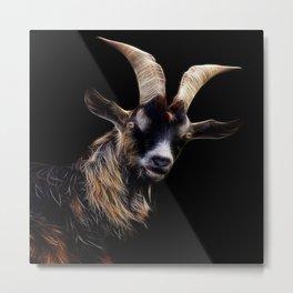 goat fractalius Metal Print
